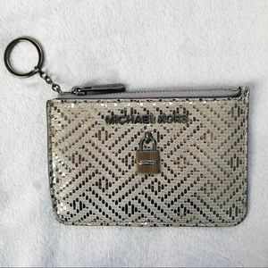 Michael Kors Adele Leather Dark Silver Coinpouch